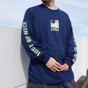 リップンディップ RIPNDIP ロンT Tシャツ BEASTIES L/S Tee ネイビー 紺 NAVY 長袖|mr-vibes