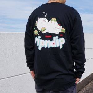 リップンディップ RIPNDIP ロンT Tシャツ FAT HUNGRY BABY L/S Tee ブラック 黒 長袖|mr-vibes