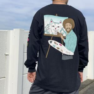 リップンディップ RIPNDIP ロンT Tシャツ BEAUTIFUL MOUNTAIN L/S Tee ブラック 黒 長袖|mr-vibes