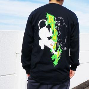 リップンディップ RIPNDIP ロンT Tシャツ FEUD L/S Tee ブラック 黒 長袖|mr-vibes