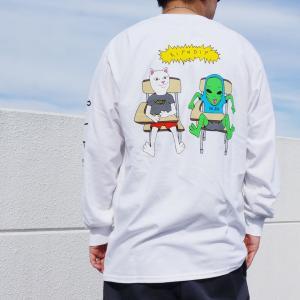 リップンディップ RIPNDIP ロンT Tシャツ BUTTS UP L/S Tee ホワイト 白 長袖|mr-vibes