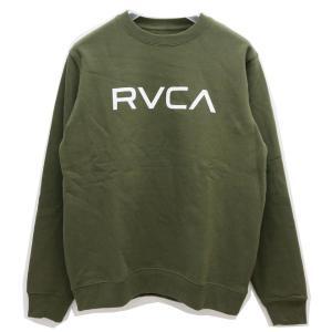 RVCA ルーカ クルースウェット BIG RVCA CREW SWEAT モスグリーン MOS GREEN カーキ トレーナー スエット AJ042-001|mr-vibes
