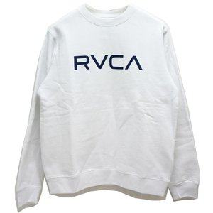 RVCA ルーカ クルースウェット BIG RVCA CREW SWEAT ホワイト 白 WHITE トレーナー スエット AJ042-001|mr-vibes