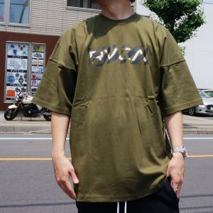全3色 ルーカ RVCA ビッグシルエットTシャツ HAZARD S/S Tee ホワイト ベージュ モスグリーン オーバーサイズ BA041223|mr-vibes
