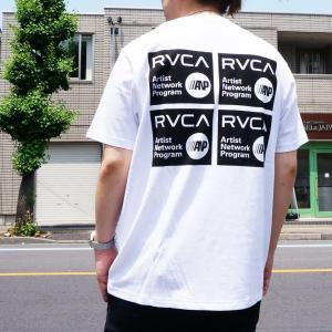 全2色 ルーカ RVCA Tシャツ ANP STICKER S/S Tee バックプリント ホワイト ダークカーキ BA041256|mr-vibes
