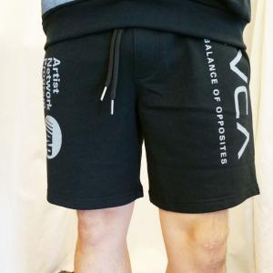 ルーカ RVCA ショートパンツ ALL OVER RVCA SHORTS ショーツ ブラック BA041-607|mr-vibes