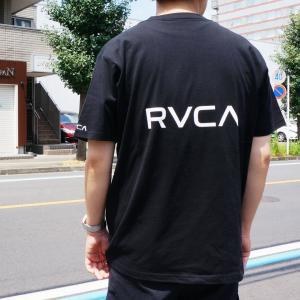 SALE セール 全2色 ルーカ RVCA Tシャツ BACK RVCA S/S Tee ブラック ブラウン BA041-250|mr-vibes