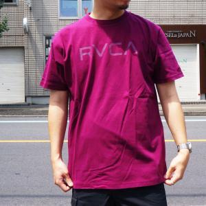 SALE セール 全2色 ルーカ RVCA Tシャツ BIG RVCA S/S Tee ワインレッド ゴールド イエロー BA041-249|mr-vibes