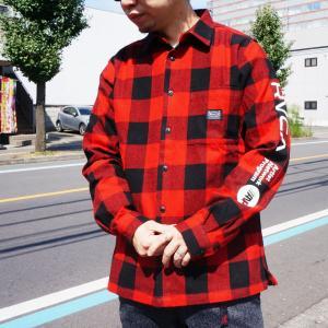 全2色 ルーカ RVCA フランネルシャツ BROTHERS FLANNEL SHIRT チェックシャツ レッド ブルー 赤 青 BA042-106|mr-vibes