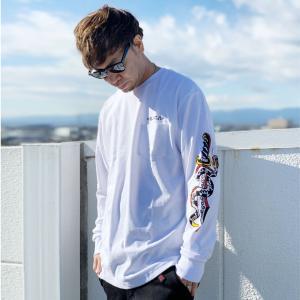 全2色 ルーカ RVCA ロンT Tシャツ KRAK DAGGER L/S Tee ホワイト 白 イエロー 黄色|mr-vibes