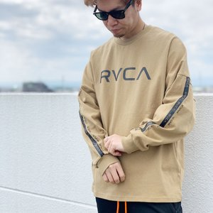 全3色 ルーカ RVCA ロンT ビッグシルエット Tシャツ BIG RVCA L/S Tee オーバーサイズ Tシャツ 長袖 BB041-052|mr-vibes