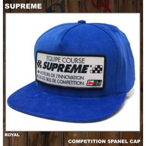 SUPREME シュプリーム COMPETITION CAP ブルー BLUE 青