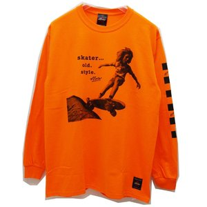 トニーアルバ TONY ALVA ロンT Tシャツ SKATER OLD STYLE L/S Tee アルバスケート ALVA SKATE オレンジ ORANGE|mr-vibes