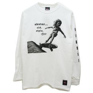 トニーアルバ TONY ALVA ロンT Tシャツ SKATER OLD STYLE L/S Tee アルバスケート ALVA SKATE ホワイト 白 WHITE|mr-vibes