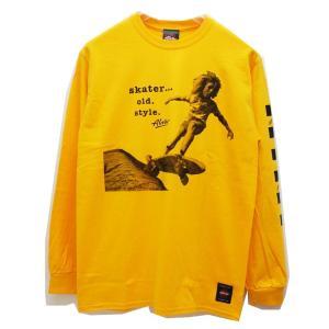 トニーアルバ TONY ALVA ロンT Tシャツ SKATER OLD STYLE L/S Tee アルバスケート ALVA SKATE イエロー 黄色 YELLOW|mr-vibes