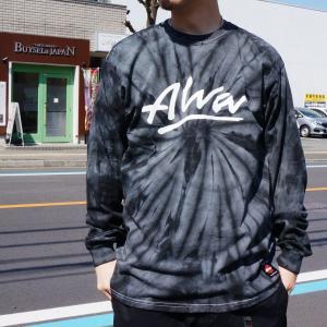 トニーアルバ TONY ALVA ロンT Tシャツ OG LOGO TIE DYE L/S Tee アルバスケート ALVA SKATE タイダイ ブラック|mr-vibes