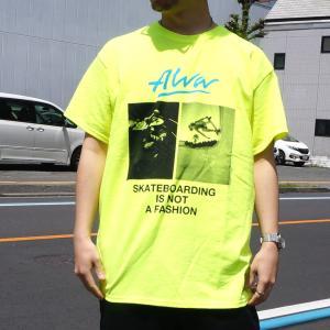 SALE セール トニーアルバ TONY ALVA Tシャツ PHOTO S/S Tee アルバスケート ALVA SKATE ホワイト ブラック ネオンイエロー|mr-vibes