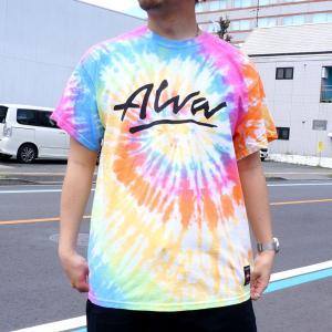 SALE セール トニーアルバ TONY ALVA Tシャツ OG LOGO TIEDYE S/S Tee タイダイ アルバスケート ALVA SKATE ブラック エタニティ レインボー|mr-vibes