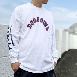 トニーアルバ TONY ALVA ロンT Tシャツ DOG BOWL ARCH LOGO L/S Tee アルバスケート ALVA SKATE ホワイト 白|mr-vibes