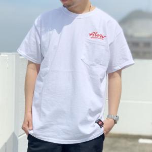 別注 全2色 トニーアルバ TONY ALVA Tシャツ OG LOGO POCKET Tee ポケットTシャツ 定番ロゴ 半袖 ホワイト 白 ブラック 黒|mr-vibes