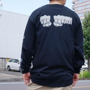 全2色 トイマシーン TOY MACHINE ロンT Tシャツ FIST EMBROIDERY L/S Tee 長袖 袖プリント ホワイト ブラック|mr-vibes