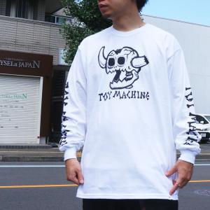 全2色 トイマシーン TOY MACHINE ロンT Tシャツ DEAD MONSTER L/S Tee 長袖 袖プリント ホワイト ブラック|mr-vibes