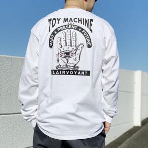 全2色 トイマシーン TOY MACHINE ロンT Tシャツ CLAIRVOYANT L/S Tee 長袖 袖プリント ホワイト ブラック|mr-vibes