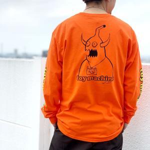 全2色 トイマシーン TOY MACHINE ロンT Tシャツ ED MONSTER L/S Tee 長袖 袖プリント ブラック オレンジ TMPBLT22|mr-vibes