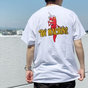 トイマシーン TOY MACHINE Tシャツ PEPPER SECT S/S Tee  バックプリント ホワイト 白 TMSBST6|mr-vibes