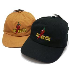 全2色 トイマシーン TOY MACHINE キャップ PEPPER SECT 6PANEL CAP 帽子 ローキャップ ブラック 黒 キャメル CAMEL TMSBHW11|mr-vibes
