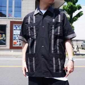 SALE セール エクストララージ XLARGE 半袖シャツ S/S CUBA SHIRT キューバシャツ 開襟シャツ ブラック 黒 BLACK|mr-vibes