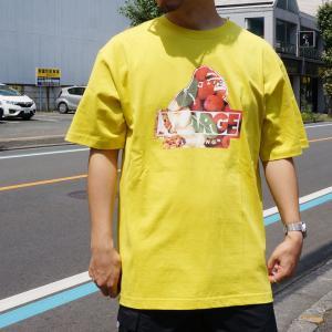 全2色 エクストララージ XLARGE Tシャツ GRUB SLANTED OG LOGO S/S Tee グリーン イエロー 緑 黄色|mr-vibes