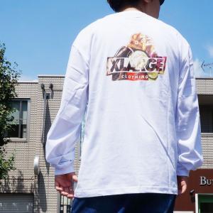 全4色 エクストララージ XLARGE ロンT Tシャツ GRUB SLANTED OG POCKET L/S Tee ホワイト ブラック グリーン イエロー|mr-vibes