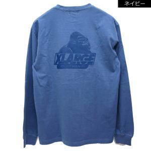 全2色 エクストララージ XLARGE ロンT Tシャツ PIGMENT OLD OG L/S Tee 長袖 ピグメント ブラック 黒 ネイビー 紺|mr-vibes