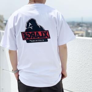 全3色 エクストララージ XLARGE Tシャツ S/S TEE SLANTED OG バックプリント 定番ロゴ 半袖 ホワイト 白 ブラック 黒 ライトパープル 紫|mr-vibes