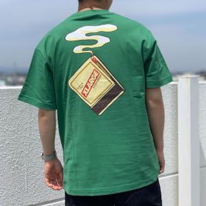 全2色 エクストララージ XLARGE Tシャツ S/S POCKET TEE MATCHES バックプリント ポケットTシャツ 半袖 ブラック 黒 グリーン 緑|mr-vibes