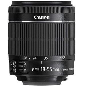 キャノン CANON  標準ズームレンズ EF-S18-55mm F4-5.6 IS STM ブラッ...
