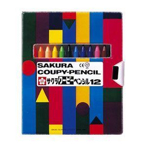 サクラ クーピーペンシル12色 ソフトケースタイプ