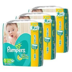P&G パンパース 紙おむつ テープ Sサイズ(4〜8kg) ウルトラジャンボパック 102枚入×3パック【ケース販売】※お一人様2ケース(6パック)まで
