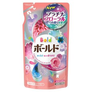 P&G 柔軟剤入り洗剤 ボールド 香りのサプリインジェル プラチナフローラル&サボンの香り つめかえ用 715g