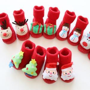 ベビー靴  コスチューム クリスマス 赤ちゃん  子ども 靴 着ぐるみ サンタ