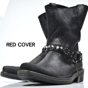 ブーツ エンジニアブーツ 靴 シューズ リアルレザー スタッズ メンズ(ブラック黒) 11108|mroutlet