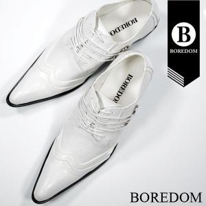 靴 ドレスシューズ レースアップシューズ メンズ(ホワイト白) 3252|mroutlet