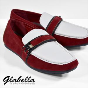 ドライビングシューズ スエード モカシン スリッポン 靴 メンズ(ワインレッド赤) glbt020|mroutlet