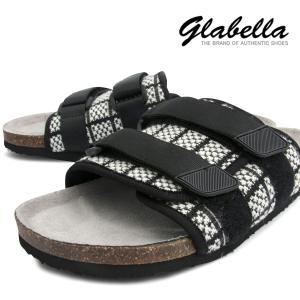 サンダル ベルト ストラップ 格子柄 靴 シューズ コンフォートサンダル メンズ(ブラックホワイト黒白) glbt094|mroutlet