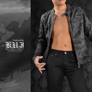 【Sale】ライダースジャケット カモフラ柄 PUレザー シングルライダース ジャケット 迷彩柄 メンズ(グレー灰ブラック黒) 49118|mroutlet