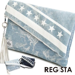 クラッチバッグ デニム ケミカル 星条旗 星 カバン 鞄 メンズ(ライトインディゴブルー青) 550 mroutlet