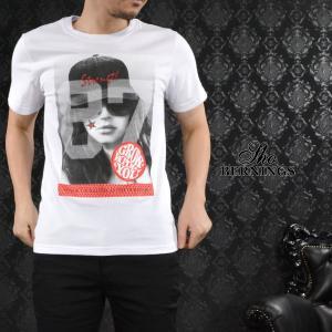 【Sale】Tシャツ ガールズプリント ナンバリング メンズ 外国人 女性 87 スター クルーネック 半袖T(ホワイト白) 321632 mroutlet