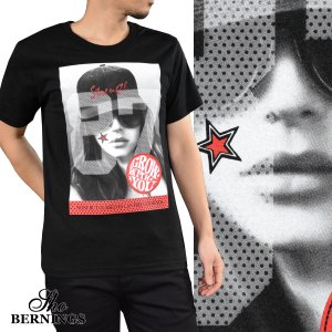 【Sale】Tシャツ ガールズプリント ナンバリング メンズ 外国人 女性 87 スター クルーネック 半袖T(ブラック黒) 321632 mroutlet
