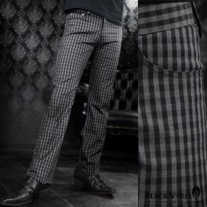 ロングパンツ チェック柄 ブーツカット 日本製 スリム ストレッチ ボトムス シューカット(グレー灰ブラック黒) 933732|mroutlet